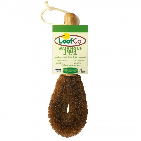 Loofco Coconut Fibre Dish Brush with Handle