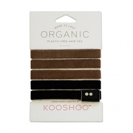 KOOSHOO Plastic Free Hair Ties - Brown/Black Trade