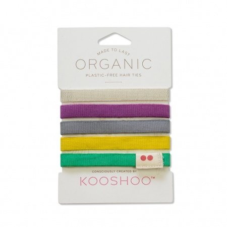 KOOSHOO Plastic Free Hair Ties - Colourful Trade