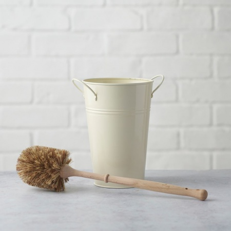 Plastic Free Toilet Brush & Holder Set - Smaller Brush