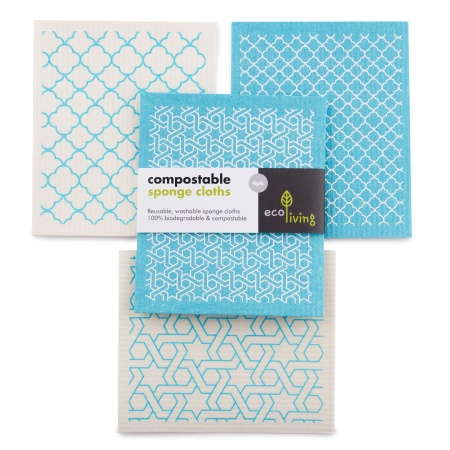 Compostable Sponge Cleaning Cloths - Moroccan