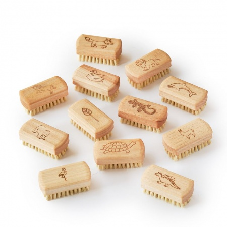 12 x Kids Natural Vegan Nail Brush (FSC 100%)
