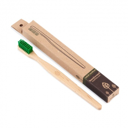 100% Plant-Based Beech Wood Toothbrush - Made in Germany