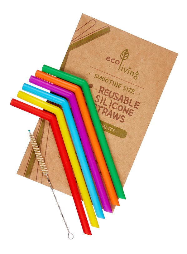 6 Silicone Straws & Plant-Based Cleaning Brush Trade